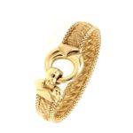 # 4648 Textiles Gold Bracelet