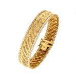 #4680Br Textiles Gold Bracelet