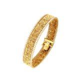 # 4682Br Textiles Gold Bracelet