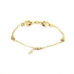 #4925Br Fancy Gold Bracelet