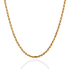 Sterling Silver Rope Chain Gold Plated