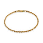Sterling Silver Rope Bracelet Gold Plated