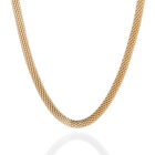 Sterling Silver Mesh Chain Gold Plated