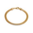 Sterling Silver Mesh Bracelet Gold Plated