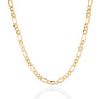 Sterling Silver Figaro Chain Gold Plated