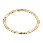 Sterling Silver Figaro Bracelet Gold Plated
