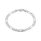 Sterling Silver Figaro 7mm Bracelet