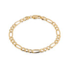 Sterling Silver Figaro 7mm Bracelet Gold Plated