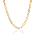 Sterling Silver 6mm Mariner Chain Gold Plated