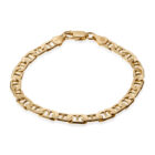 Sterling Silver 6mm Mariner Bracelet Gold Plated
