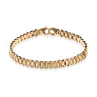 Sterling Silver Men Bracelet Gold Plated
