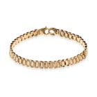 Sterling Silver Men Bracelet Gold Plated
